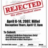 """Rejected"" exhibition flyer"