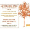 """A Week and a Half"" exhibition flyer"